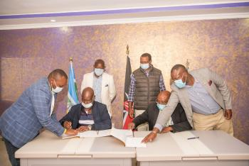 Signing of a Landmark MoU Between Laikipia and Nyeri Counties