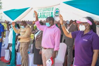 Governor Ndiritu Muriithi leads the Cervical Cancer Awareness Month launch in Nanyuki